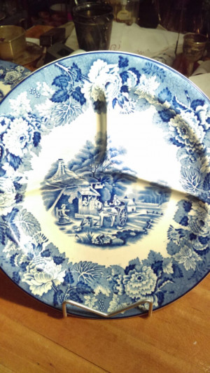 "Woods Ware 10.5"" Divided Dinner Plate"