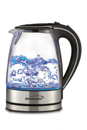 Cordless Glass electric kettle, 7 cups, 1100 watts