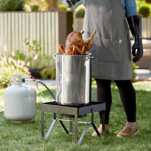 30 qt Stainless turkey fryer & steamer set