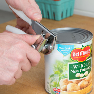Can Opener- portable Swing-A-Way, white.
