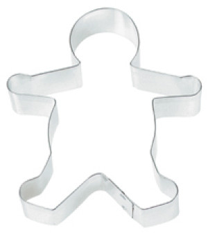 Gingerbread boy cookie cutter, 5""