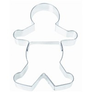 "7.5"" gingerbread boy cookie cutter"