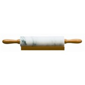 Marble rolling pin w/base