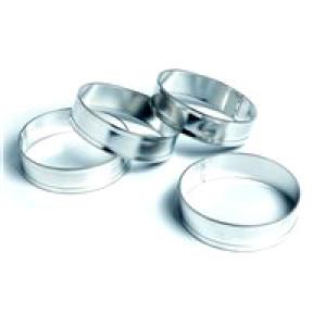 English muffin & crumpet rings, set of 4