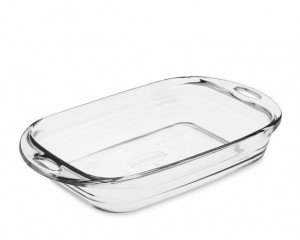 Glass oblong bake dish 3 quart
