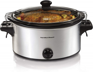 Slow cooker, 6 qt, w/ clip tight seal lid
