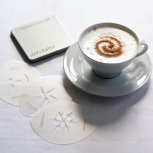 Aerolatte Cappuccino Art 6 stencil designs