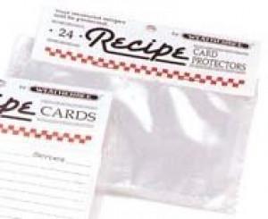"""Recipe card protectors, 3""""x5"""""""