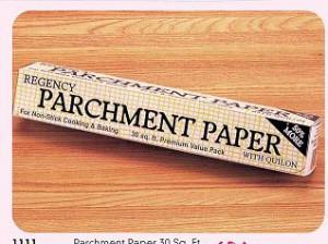 Parchment paper, 30 square feet