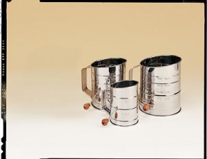 5 cup Sifter, S/S hand crank