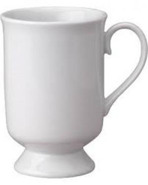 9 oz Pedestal White Mug, Porcelain