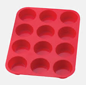 12 cup silicone muffin pan, 500 degree