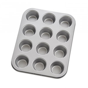 Mini Muffin Pan, 12 cup, Nonstick, Carbon steel