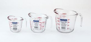Measuring cup, Oven proof, 1 cup
