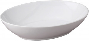 "Oval baker, 10.5"", 42 oz, white"