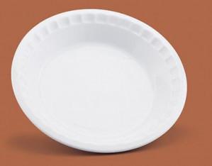 "Pie plate, 10.5"", White porcelain"