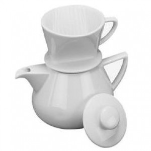 Drip Coffee maker w/ Pot, White, 2.25 cups