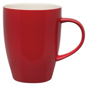 Mug, 11 oz., Rose Red w/ white interior