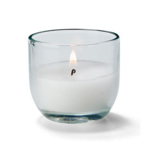 Disposable candle in glass, 48/case