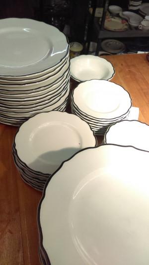 "Black Platinum 7 3/8"" Lunch Plate"