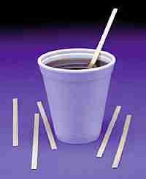 10 oz. Dart Foam cup 40pk/25 Lid 10JL, 10UL