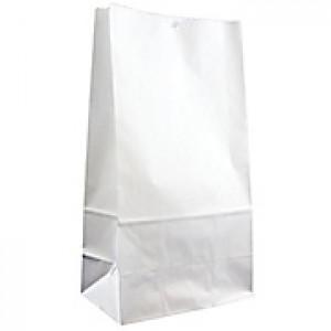 White grocery bags, 12 lb 500/bdl, 13.75x7.06x4.5