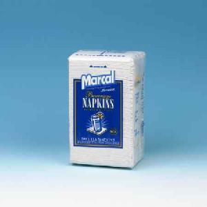 Beverage Napkin, 1 ply White , 8/500