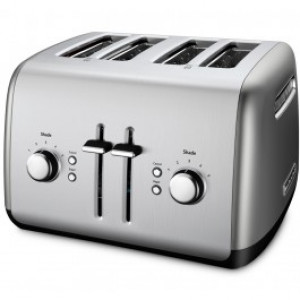 4 slice all metal toaster Contour Silver