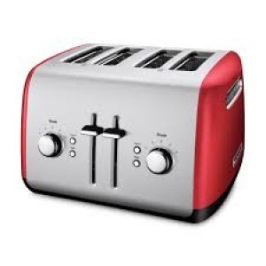 4 slice all metal toaster Empire Red
