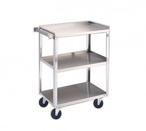 "Utility cart, 3 shelf, 15.5""x24"" shelf"