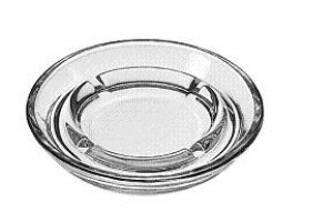 "Safety ash tray, 5"" diameter, 3dz/case"