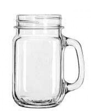 Drinking Jar mug, 16 oz Plain, 1dz/case