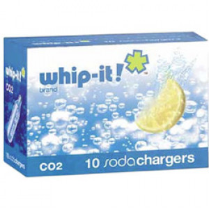 Soda charger, CO2, 10/box