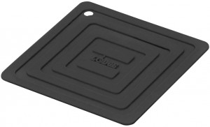 "Pot holder & trivet, 6"" square, black"