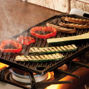 "16.75"" x 9.5"" Cast Iron Reversible grill/griddle"