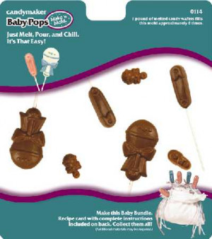 Baby pops candy mold, 8 cavities
