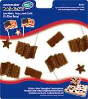 Patriotic mix candy mold, 7 cavities
