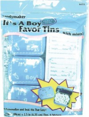 It's a boy mint tins
