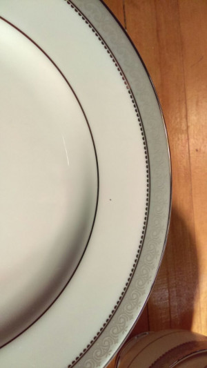 "Mikasa Platinum Crown 8.25"" Lunch Plate"