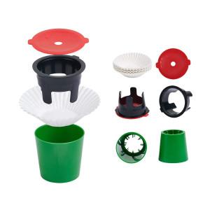 JavaJig Kit,2 reusable cups, 30 coffee filters