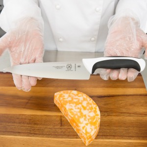 "Mercer 10"" Chef's knife, white handle"