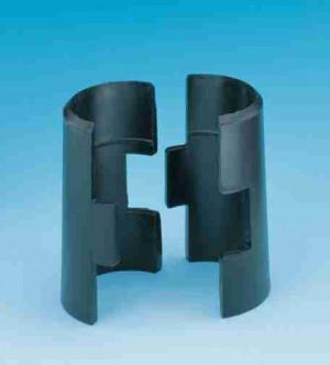 Split sleeves, Black, Plastic, Collet, 4/bag