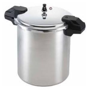 23 qt Aluminum pressure cooker, Holds 7 qt jars