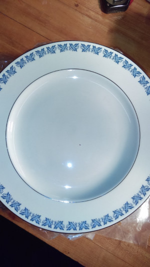 "Blue Wyndmoor 10.75"" dinner plate"