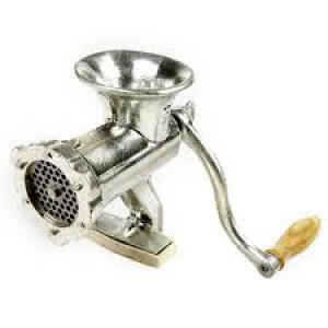 Cast Iron Meat grinder, w/ Sausage funnels