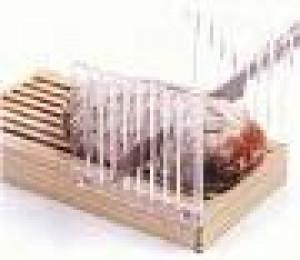 Acrylic bread slicer w/ Wood crumb catcher