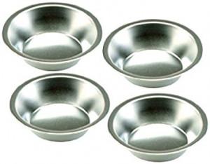 """Mini Pie Pan Set of 4 Tin 5""""x1.25"""""""