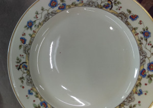 "Syracuse China Cloisonne 9.75"" Dinner Plate"