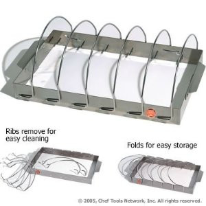 Collapsible rib rack w/ Removable dividers