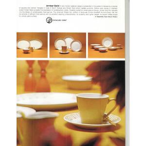 "Syracuse China Amber Gold 7-1/8"" Desert Plate"